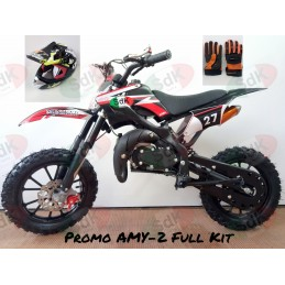 Minicross AMY2 Kit Casco Guantini